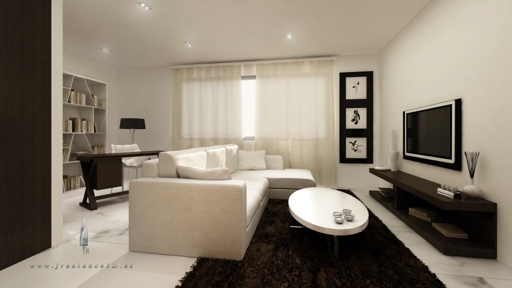 Decoraci n de salones modernos estilo minimalista - Salones modernos minimalistas ...