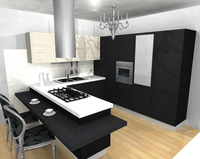 Cocina de diseño moderno