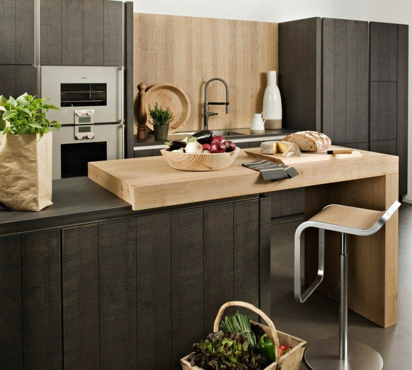 Cocina con isla de diseño