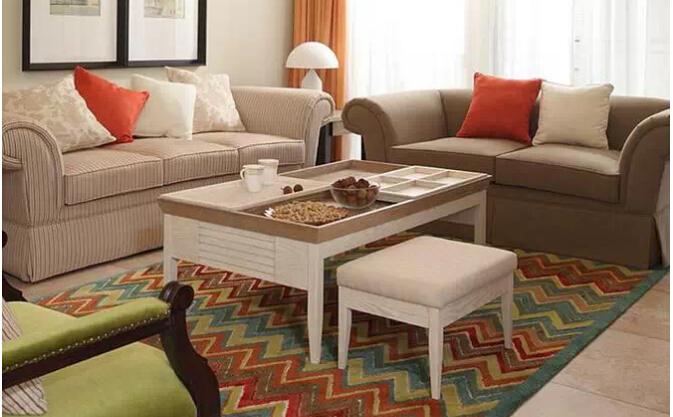 Decoracion salones pequeños alfombras