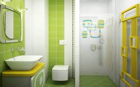 baños decoracion en blanco y verde