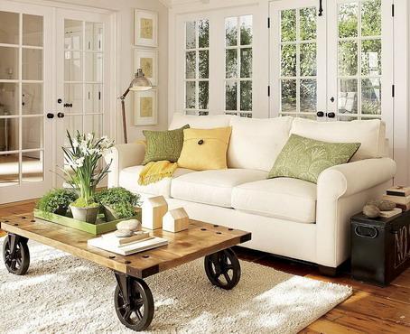 bonito diseo salones pequeos mesa y sofa compartir