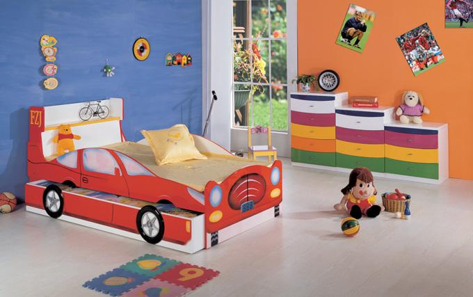 cama decorada para dormitorio infantil