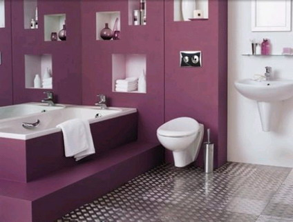 color decoracion baos violeta - Decoracion De Baos
