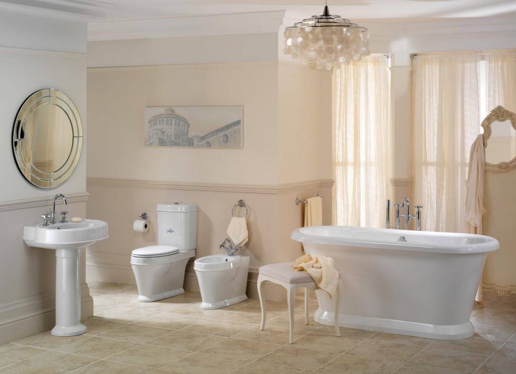 decoración baño clásico