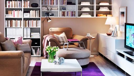 Dise o de salones colores personalizados hoy lowcost - Salones pequenos ikea ...