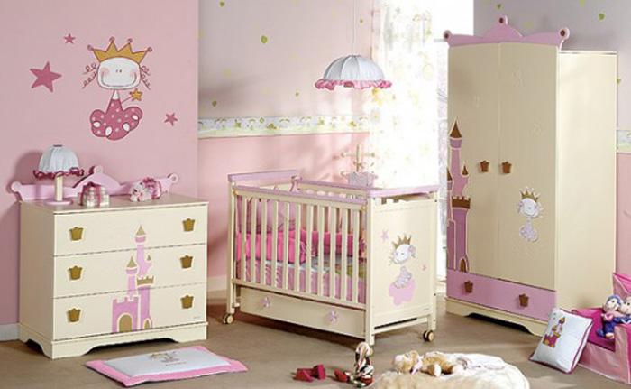 decoracion dormitorio de bebe niña