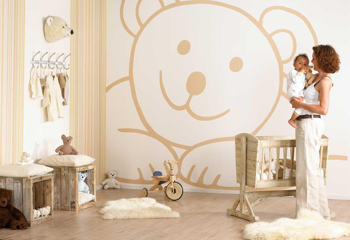 decoracion paredes cuartos de bebe