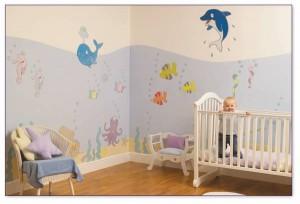 decoracion paredes habitaciones de bebes