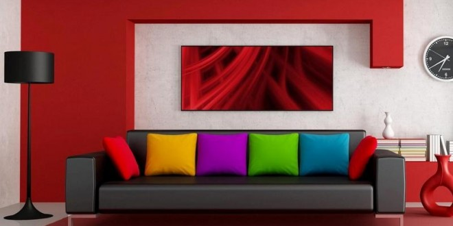 Decoracion salones modernos pintura colores hoy lowcost - Pinturas decoracion salones ...