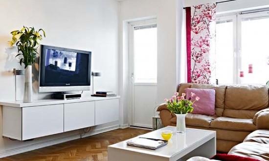 decoracion salones pequeños muebles colgados | Hoy LowCost
