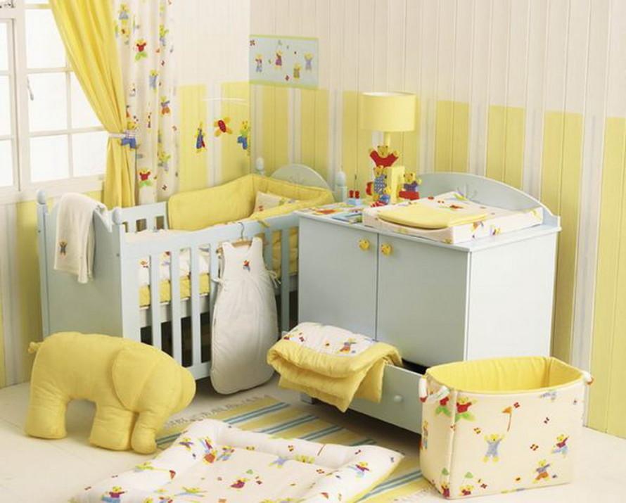 diseño colores habitacion bebe