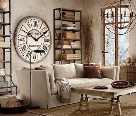 diseño de salon estilo rustico