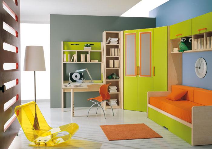 diseño habitacion infantil colores calidos