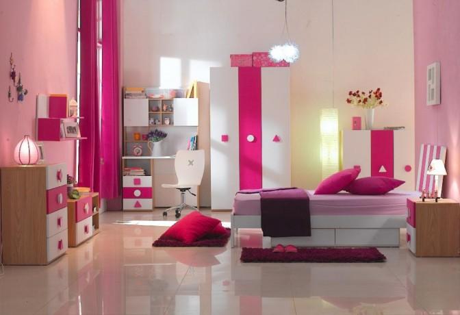 dormitorio color rosa para niñas