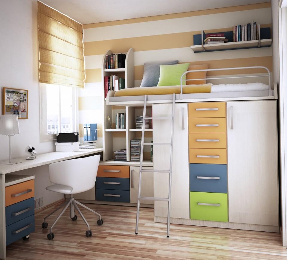 dormitorios infantiles en espacios pequeños