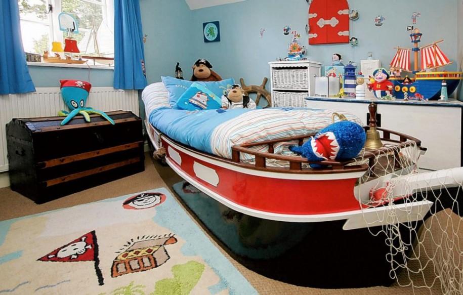 estilo marinero en habitaciones infantiles