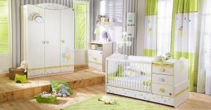 habitacion de bebe con muebles convertibles