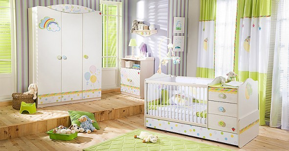 Habitacion de bebe con muebles convertibles hoy lowcost - Muebles para habitacion de bebe ...