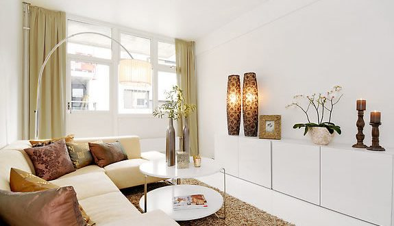 muebles blancos salones pequenos hoy lowcost