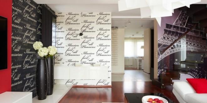 Salon moderno originales paredes hoy lowcost - Paredes salones modernos ...