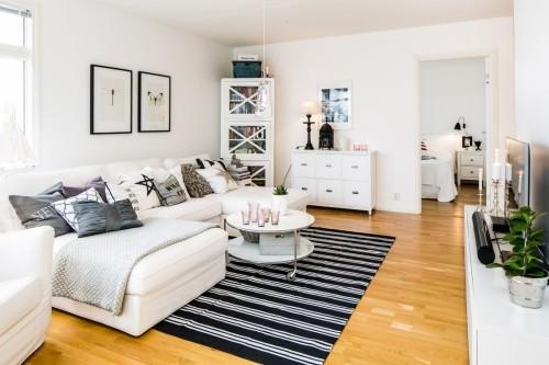 Salones decoracion moderna alfombras hoy lowcost - Alfombras de salon ikea ...