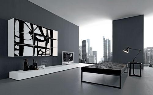 Decoraci n de salones modernos estilo minimalista hoy - Cuadros para salones minimalistas ...