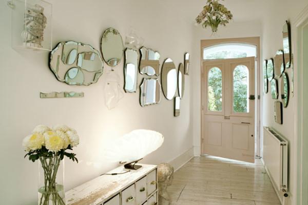 Decoracion recibidores con espejos pequeños