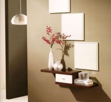 Recibidor colgado hoy lowcost for Decoracion de espejos para sala