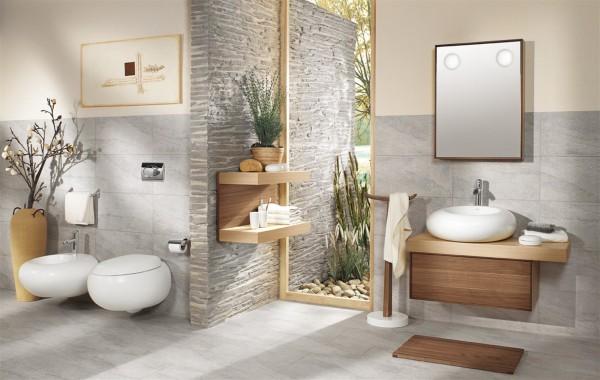 baños decorados con bambu