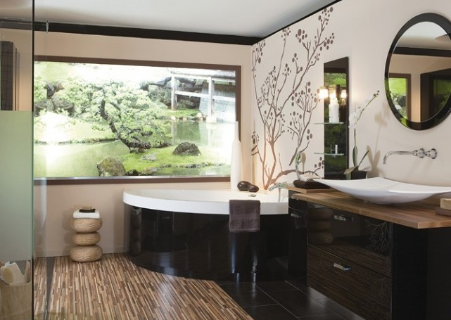 Ideas Baños Originales:Vamos a considerar la incorporación de este estilo japonés en