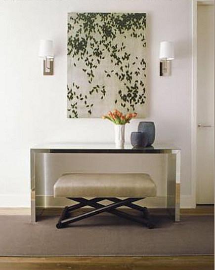 elegante diseño recibidor moderno