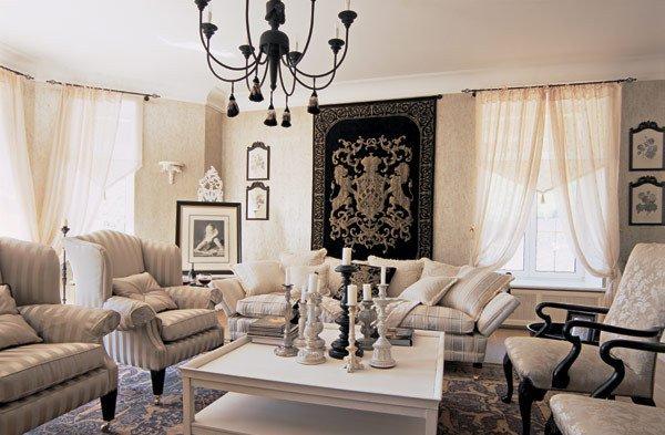elegante y sofisticada decoracion lounge
