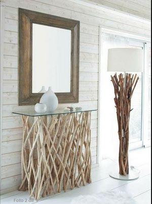 forja y espejo en decoracion recibidor original diseo muebles recibidor
