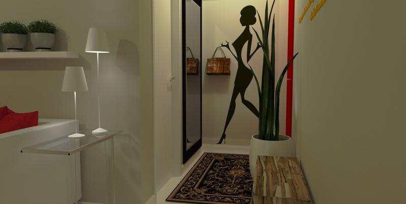 Vinilos decoracion recibidor moderno hoy lowcost - Decoracion de recibidores y pasillos ...