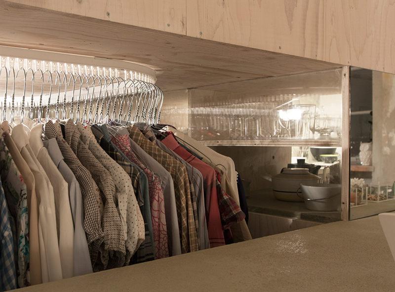 decoración loft vestidor