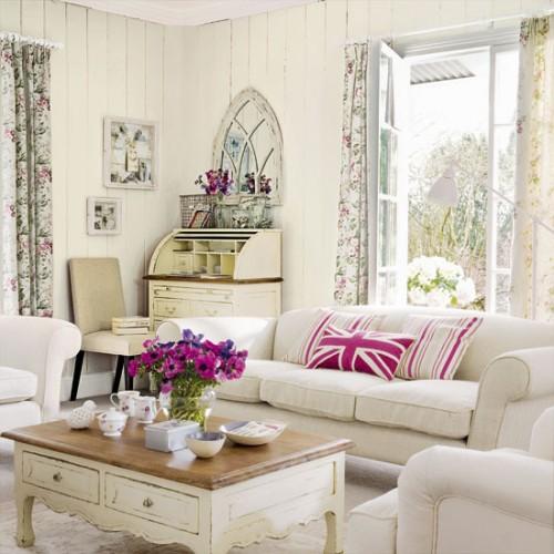 diseño de interiores estilo romántico