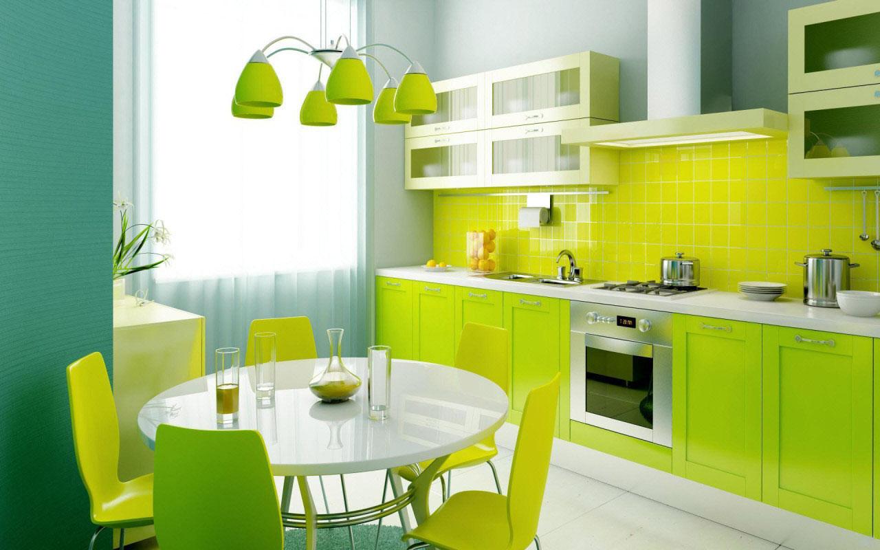 cocina con office moderna