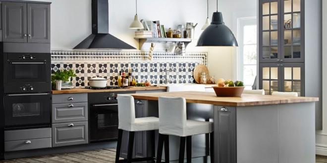 Cocina moderna con azulejos rusticos hoy lowcost - Azulejos para cocina modernos ...