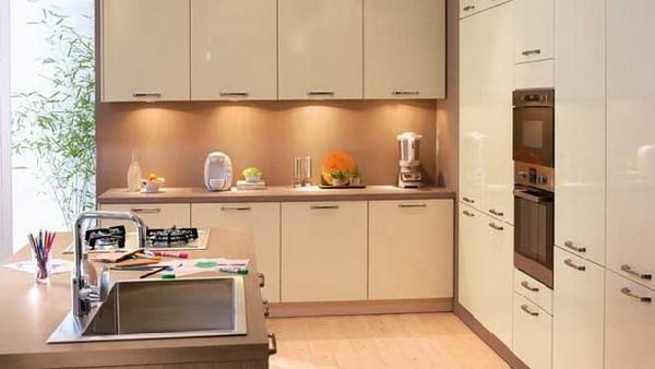 diseño minimalista cocina pequeña