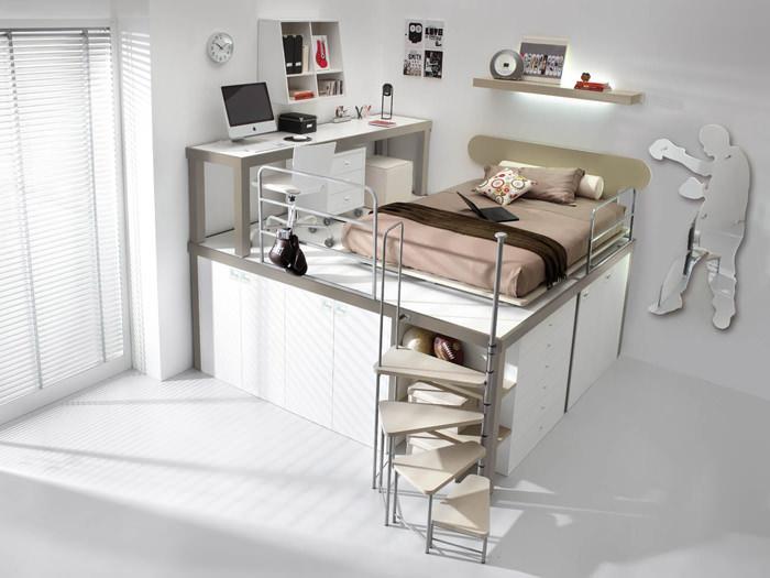 Como decorar las habitaciones juveniles peque as 10 - Muebles para habitaciones pequenas juveniles ...