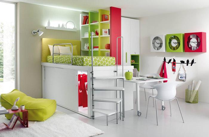 habitacion juvenil chica espacios pequeños