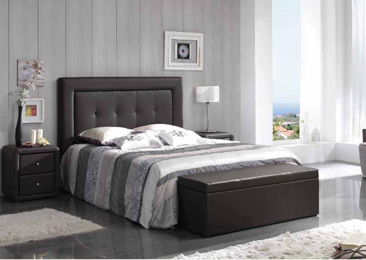 moderno dormitorio en piel