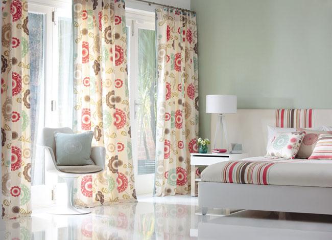 diseos de cortinas florales