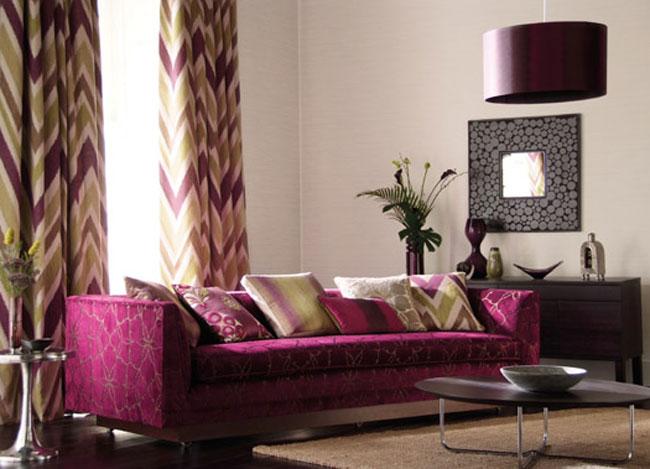 cortinas salon modernas