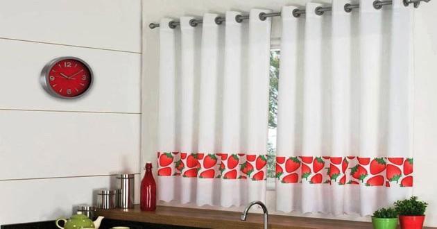 Dise o cortinas de cocina hoy lowcost - Disenos de cortinas para cocina ...
