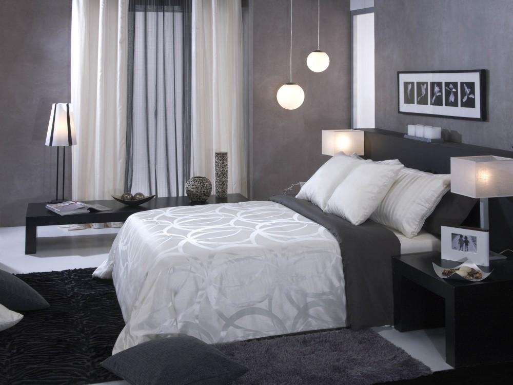 Novedades en dise o de cortinas 2018 hoy lowcost for Dormitorio gris y blanco