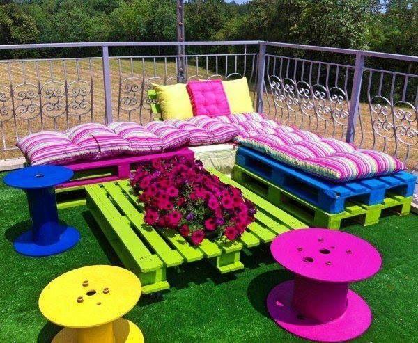 La mejor decoraci n de exteriores de casas hoy lowcost - Muebles para jardin baratos ...