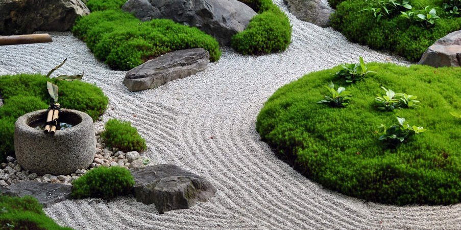 caminos en jardines feng shui