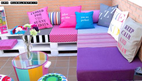 La mejor decoraci n de exteriores de casas hoy lowcost for Muebles de jardin con palets reciclados